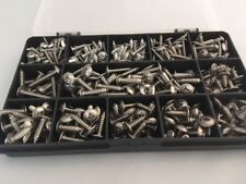 Stainless Steel Pozi Flange Head Self Tapping Screws 340 Assorted Self Tappers