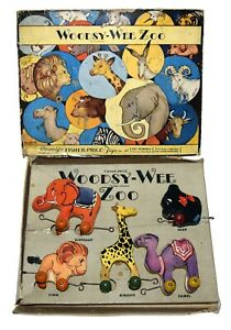 Nice Complete Boxed Fisher Price Woodsy Wee Zoo No. 205 - Worldwide Shipping