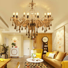 Ridgeyard Modern Luxury 10-Arm Clear Crystal Chandelier Home Decor Pendant Light