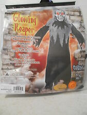 Boys Glowing Reaper Halloween Costume - Size Medium (8) - NEW