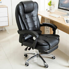More details for luxury massage computer office desk gaming chair swivel recliner w/footrest