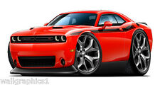 2015 Dodge Challenger R/T 392 HEMI Hellcats Baby Sister Wall Graphic Decal Cling