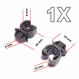 1X Engine Bonnet Support Rod Clip for Opel, Vauxhall, GM, Mitsubishi
