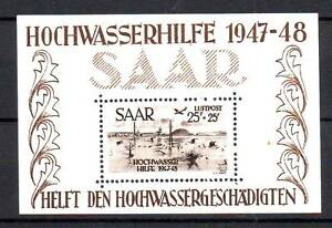 TIMBRES BLOC SARRE N°2 NEUF SANS CHARNIERE LUXE  RARE.................