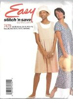 UNCUT Vintage McCalls Sewing Pattern Misses Pullover Sleeveless Dress 7479 OOP
