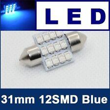 31mm LED Festoon SUPER BRIGHT BLUE 12 SMD LED Light Bulb Dome Interior Map C5W