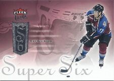 2005-06 UD FLEER ULTRA RAY BOURQUE SUPER SIX SS4 AVALANCHE