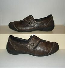 RIEKER Antistress Women's Dark Brown Leather Casual Loafers Size 38 EUR / 7 US