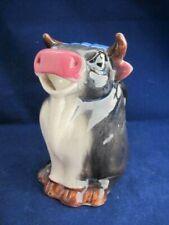 "Original Vintage Porcelain Cow Creamer- Bull- Made in Japan- 5.25"" Tall"