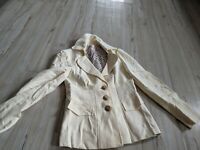 Nanette Lepore Women's Blazer Working Jacket Coat Buttons AS IS Ivory White Sz 8