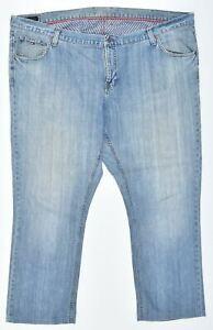 TOMMY HILFIGER Mens Jeans W50 L31 Blue Cotton Straight Madison DQ02