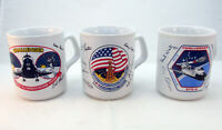 Set of 3 Vintage NASA Space Shuttle Coffee Mugs Challenger made in England