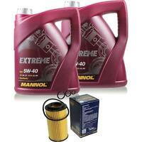 Ölwechsel Set 10L MANNOL Extreme 5W-40 Motoröl + SCT Filter KIT 10203721