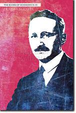 Le icone dell' economia # 06-Friedrich Hayek-UNICA FOTO ART PRINT REGALO ECON