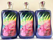 Bath Body Works INTO THE WILD Shower Gel, 10 fl. oz/295 mL, NEW, x 3
