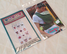 LOT OF 2 SEWING PATTERNS ~ Mei Tai Baby Carrier, Little Quilt Company Baby Bibs