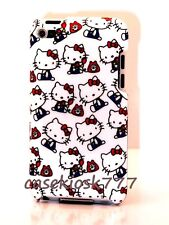 for iPod touch 4th 4 th 4g itouch  back hello kitty case telephone red white