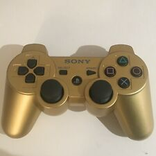 PS3 Playstation 3 Gold Dualshock 3 Tested and Working OEM, Genuine, Rare!