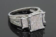 .55 CARAT WOMENS LADIES WHITE GOLD FINISH DIAMOND ENGAGEMENT BRIDAL WEDDING RING