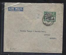 KENYA.UGANDA, TANGANYIKA (P0302B) 1937 KGV1/- NAIROBI A/M TO GERMANY