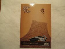 Braun Shave your Style cruzer 3 Advertising Continental Postcard