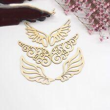 4pcs/SET DIY Craft Ornament Embellishment Wooden Card Wing Shapes Scrapbooking