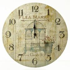 Heaven Sends Retro Look Flea Market Scene Wall Clock