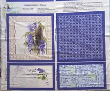 Patchworkstoff Baumwolle Fabric Nature's Pillow Panel Lilac Flieder 001 Purple