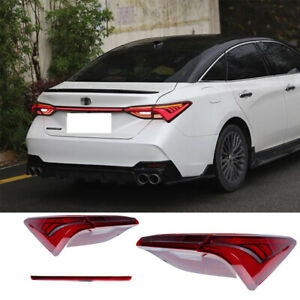 For Toyota Avalon 2019-2021 Tail Lights Assembly Red Color All LED Rear Lamps
