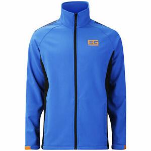 Craghoppers Mens Bear Grylls Softshell Jacket Blue and Black Pepper SCML012