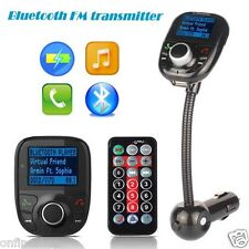 Bluetooth Car Kit FM Transmitter MP3 Player Steering Wheel Handsfree SD MMC FM