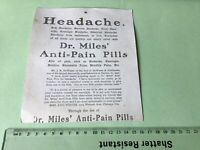 Dr Miles Anti Pain Pills  Victorian American Advertising Trade Card Ref 49461