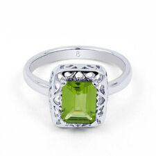 Baguette Sterling Silver Engagement Fine Rings