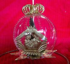 Vtg Handmade West Germany Glass Nativity Manger Scene Ball Ornament