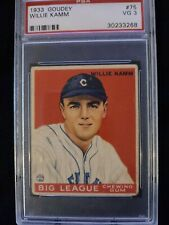 1933 GOUDEY #75 WILLIE KAMM PSA 3 VG - Check out my other listings!
