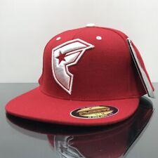 FAMOUS STARS & STRAPS BOH RED FLEXFIT CAP HAT RED (S/M)