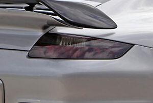 2005-2008 Porsche 911 vinyl tail light covers tints smoked 2 precut pieces wrap