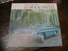 Vintage! 1961 BUICK SPECIAL Auto Brochure (Excellent condition)  - 12 Pages