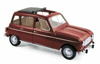 NOREV 185187 RENAULT 4L diecast model road car dark red 1966 1:18th scale