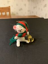 Annalee 2007 Christmas Mouse With Bell Ornament Collectible #Tub6