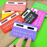 Mini Random Slim Credit Card Solar Power Pocket Portable Calculator