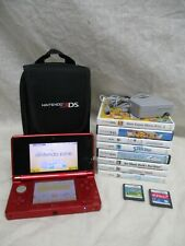 NINTENDO 3DS VIDEO GAME CONSOLE SYSTEM + CARRY CASE & 10 GAMES WORKS EXCELLENT