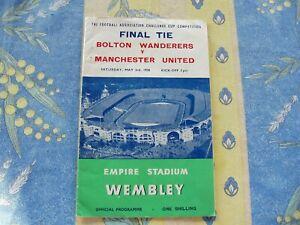 Bolton v Manchester Utd 1958 FA Cup Final at Wembley