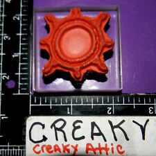 SUN FLOWER ON CLEAR ACRYLIC BLOCK RUBBER STAMP
