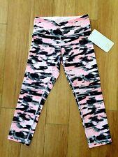 BNWT! Lululemon Wunder Under Pink Wamo Camo Denim Crop Legging 2 XXS SOLD OUT