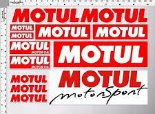 1set motul motor sport oil auto lube racing decal sticker die-cut vinyl