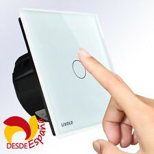 Interruptor Blanco de Pared LIVOLO Ultra Fino Panel Táctil Panel - Touch Screen