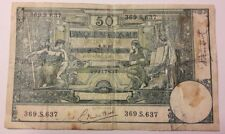 50 Francs 1920 Frank  Belgium Belgique Belgïe Biljet billet Banknote
