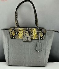 Nieuw Tasche GUESS Angela Satchel Totes Dames Military Multi NeuF