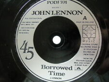 JOHN LENNON 45 ' BORROWED TIME DJ PROMO COPY